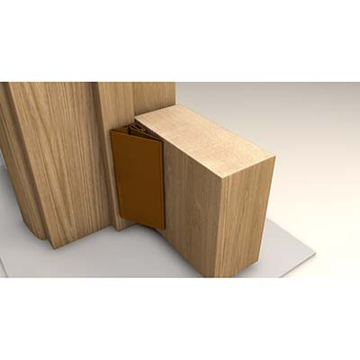 FingerWizard Half Set - 1950mm - Hinge Side Only - Brown