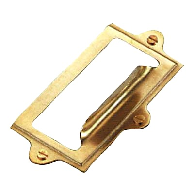 Card Frame - 54 x 102mm - Dipped Brass
