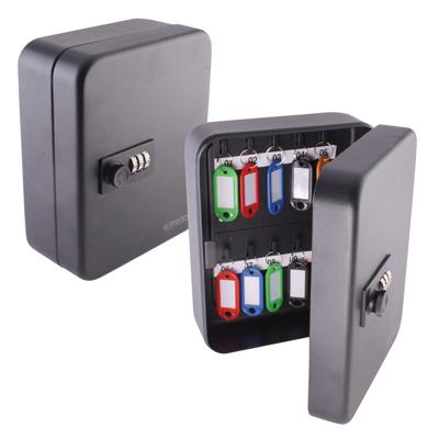 Sterling Combination Key Cabinet - 20 Hook - Black)