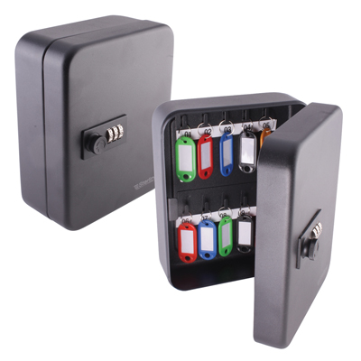 Sterling Combination Key Cabinet - 20 Hook - Black)