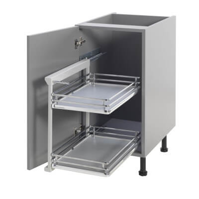 Base Pull Out Plus with Soft Close - Left Hand - Cabinet Width 400mm