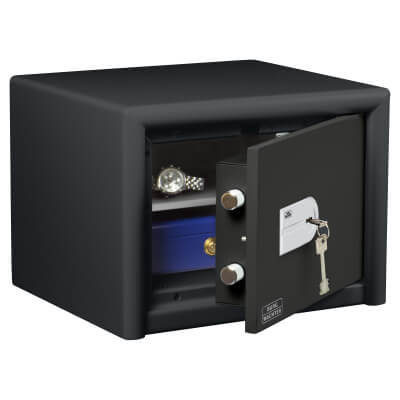 Burg Wächter CL 10 S Combi-Line Key Operated Fire Safe - 320 x 435 x 380mm - Light Grey