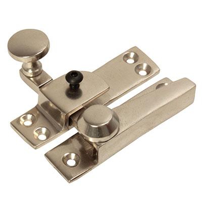 Heavy Duty Quadrant Straight Arm Locking Fastener - 70mm - Satin Nickel