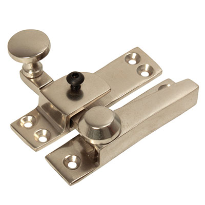 Heavy Duty Quadrant Straight Arm Locking Fastener - 70mm - Satin Nickel
