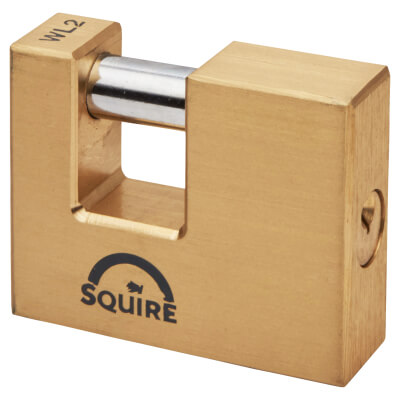 Squire Brass Shutter Lock - 70mm
