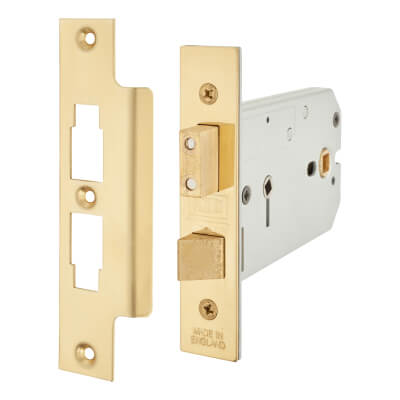 UNION® 2026 Horizontal Bathroom Lock - 124mm Case - 38 - 101.5 mm Backset - Polished Brass
