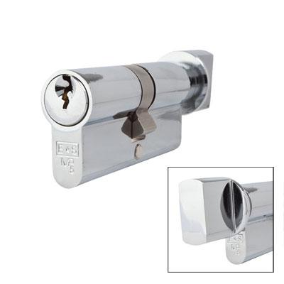 Eurospec MP5 - Euro Cylinder and Turn - 35[k] + 35mm - Polished Chrome  - Keyed to Differ)