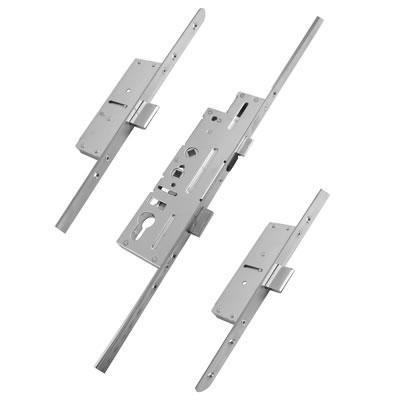 Fullex Multipoint Door Lock - Dual Spindle - 3 Deadbolts - 62/92mm Cntres - 45mm Backset - uPVC / T