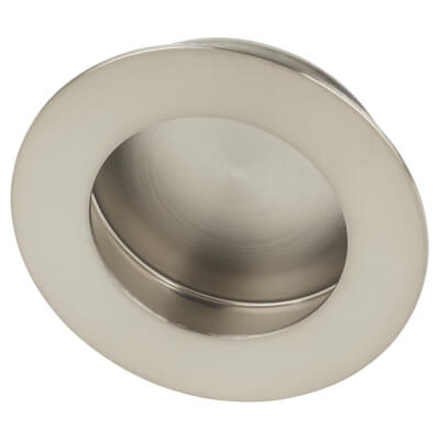 Altro Circular Flush Cabinet Handle - 65mm - Satin Stainless Steel)