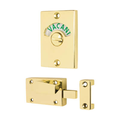 Traditional Indicator Bolt - Polished Brass