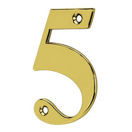 76mm Numeral - 5 - Gold
