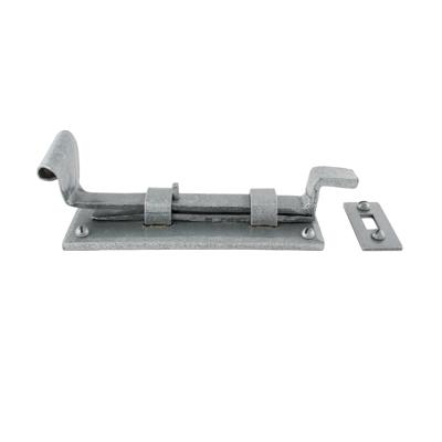 Cranked Door Bolt - 190mm - Pewter