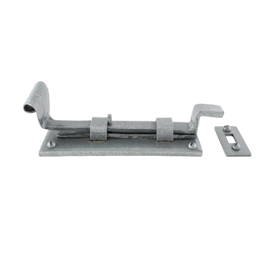 Olde Forge Cranked Door Bolt - 190mm - Pewter