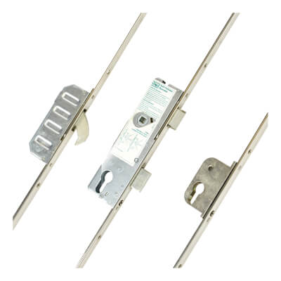 Winkhaus Cobra Multipoint Door Lock - Split Spindle - 2 Hook - 92 / 381mm Centres - 35mm Backset -