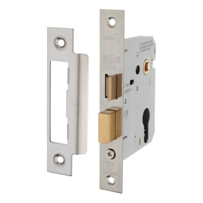 Project Euro Sashlock - 76mm Case - 57mm Backset - Nickel Plated