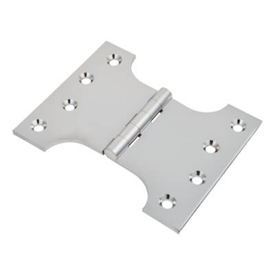 Parliament Hinge - 100 x 75 x 125mm - Polished Chrome)