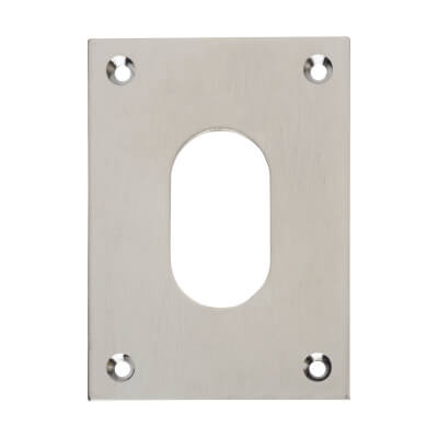 Jumbo Escutcheon - 65.5 x 47.6mm - Oval - Satin Chrome