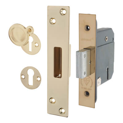 Arrone® BS3621 Deadlock - 63mm Case - 45mm Backset - Polished Brass
