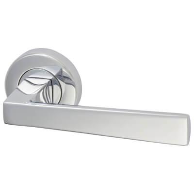 M Marcus Siloh Door Handle - Polished Chrome