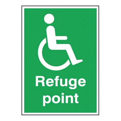 Disabled Refuge Point Sign)