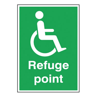 Disabled Refuge Point Sign)