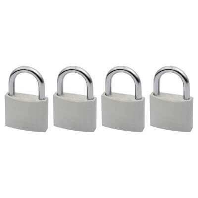 Squire Aluminium Padlock - Keyed Alike - Pack of 4