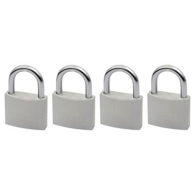 Squire Aluminium Padlock - Keyed Alike - Pack of 4