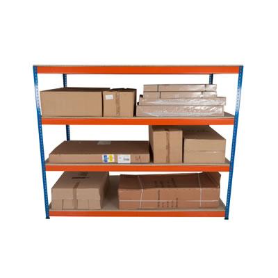 4 Shelf Commercial Shelving - 400kg - 1980 x 2440 x 455mm