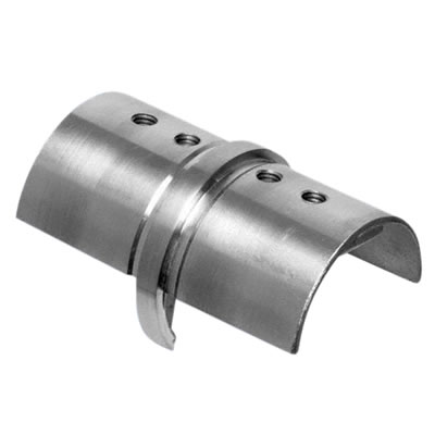Posiglaze Balustrade Handrail Inline Connector - Stainless Steel