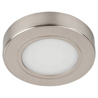 Sensio Hype LED Recessed/Surface Cabinet Light - Round - Cool White - Single