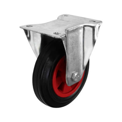 Coldene Heavy Duty Industrial Castor - Fixed - 205kg Maximum Weight - Black/Red