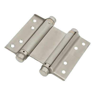 Double Action Spring Hinge - 102mm - Stainless Steel)