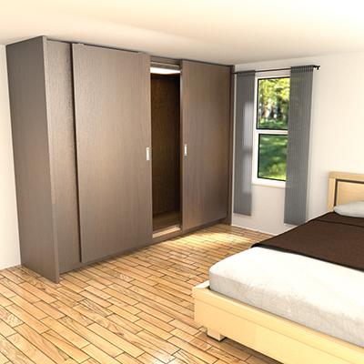 OPK Closet Sliding Door System - 2 Door)