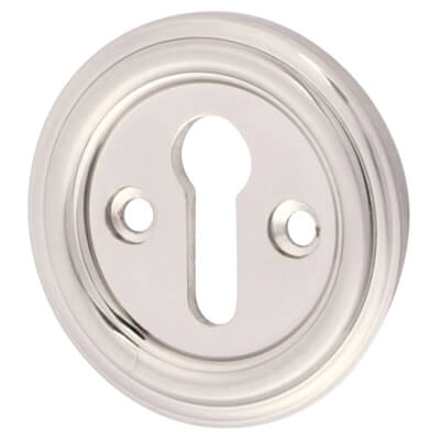 Keyhole Escutcheon - Satin Nickel)