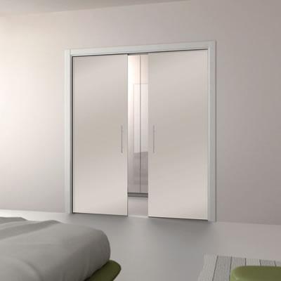 Eclisse 10mm Glass Double Pocket Door Kit - 125mm Wall - 762 + 762 x 1981mm Door Size