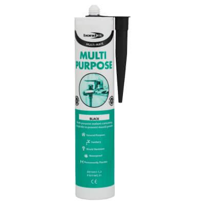 Bond It Multi-Mate Multi-Purpose Silicone - 310ml - Black)