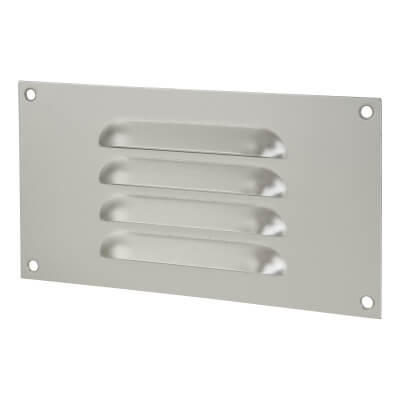 Hooded Louvre Vent - 165 x 89mm - 1672mm2 Free Air Flow - Satin Aluminium)