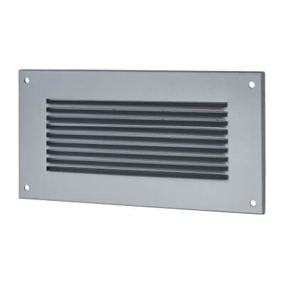 Vent Cover - 260 x 135mm to suit block 225 x 75mm - Silver)