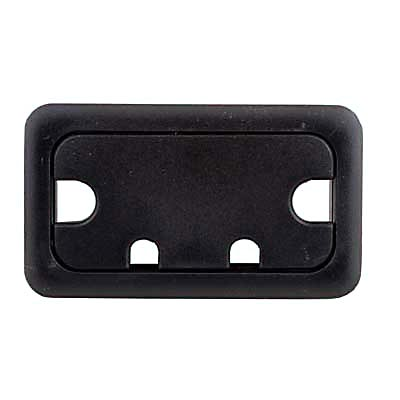 Rectangular Cable Tidy - 105 x 55mm - Black - Pack 10)