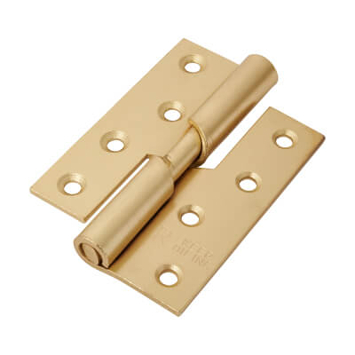 Rising Butt Hinge - 102 x 76 x 2mm - Right Hand - Brass Plated