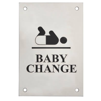 Baby Change - 150 x 100mm - Polished Stainless Steel