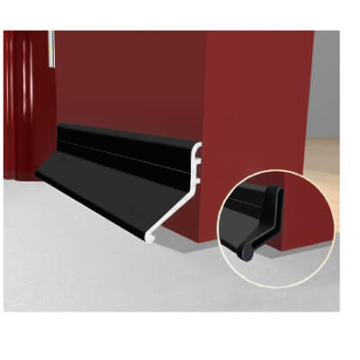Exitex Slimline Rain Deflector and Drip Weather Bar - 914mm - Black
