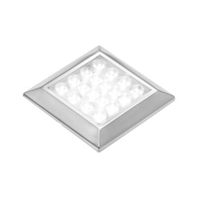 Leyton LED Square Cabinet Downlight With Driver - 80 x 80mm - 3 x 1.8W