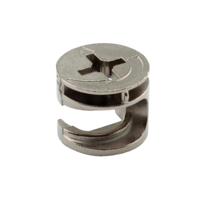 Rimless Cam Connector - Min Panel Thickness 12mm - Nickel Plated - Pack 50)