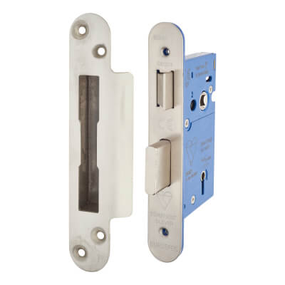A-Spec BS3621 5 Lever Sashlock - 65mm Case - 44mm Backset - Radius - Satin Stainless