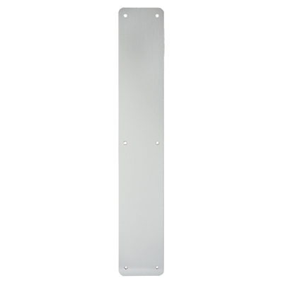 1.5mm Plain Finger Plate - 450 x 75mm - Satin Aluminium