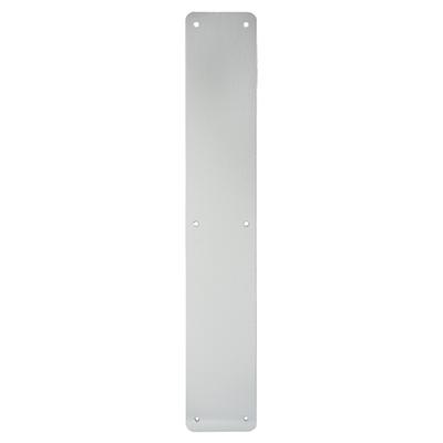1.5mm Plain Finger Plate - 450 x 75mm - Satin Aluminium