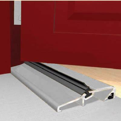Exitex Narrow Slimline Threshold - 1829mm - Inward/Outward Opening Doors - Mill Aluminium
