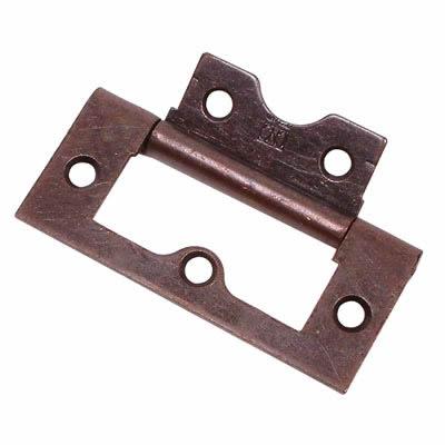 Flush Hinge - 50mm - Bronze - Pack 20