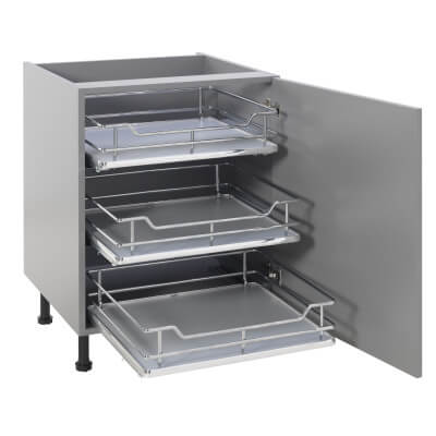25kg Single Soft Close Pull Out Organiser - Cabinet Width 400mm)